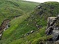 Crowden Great Brook from Crowden Castles - geograph.org.uk - 469393.jpg