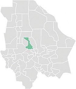 Vị trí của đô thị trong bang Chihuahua