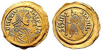 Cunipert - Tremissis of Cunincpert's, minted in Milan.