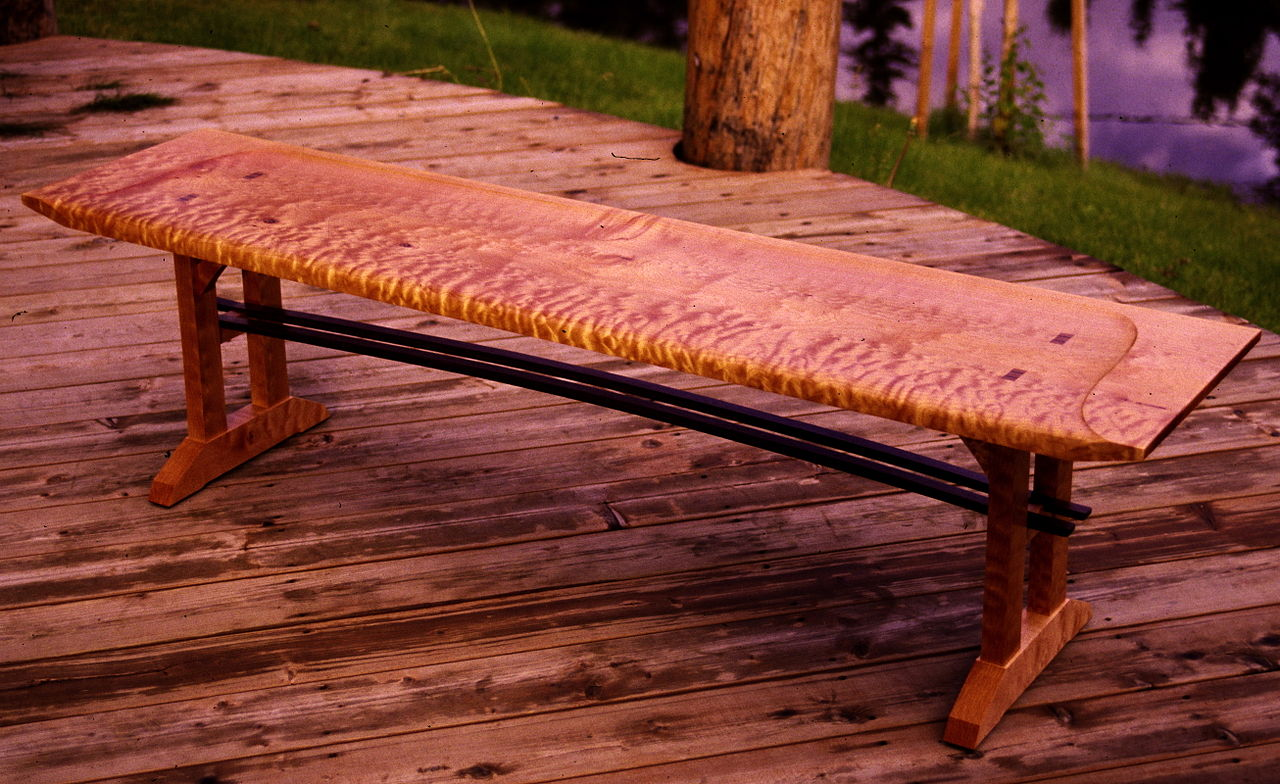 File curly maple bench g wikimedia commons