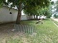 Cycling racks and rest area, Majk Hermitage, 2018 Majkpuszta.jpg