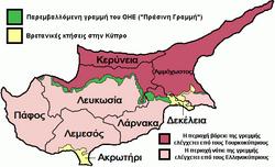 Χάρτης των περιφερειών της κύπρου