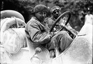 Cyril Snipe - Snipe in his SCAT at the 1912 Targa Florio
