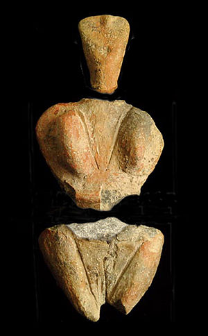 Skorba Temples - Terracotta Mother Goddess found at Skorba (National Museum of Archaeology, Valletta)