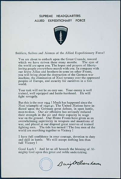 D-Day Statement to Soldiers, Sailors, and Airmen of the Allied Expeditionary Force - NARA - 186473.jpg