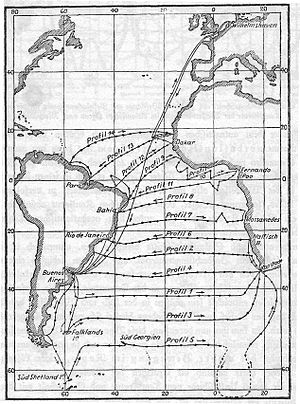 German Meteor expedition - Planned routeing of the expedition Alfred Merz, 1925