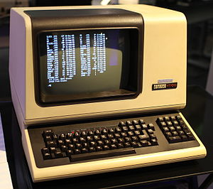 Computer terminal - The DEC VT100, a widely emulated computer terminal