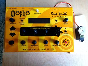 Dave Smith Instruments - Image: DSI Mopho knob controlled by RC servo motor Analog synth RC Hack