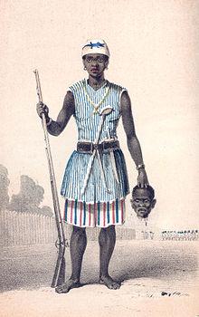 Légende des Amazones dans Mythologie/Légende 220px-Dahomey_amazon1