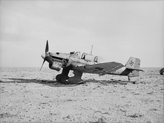Sturzkampfgeschwader 1 - Ju 87 abandoned in Libya. The photograph shows all the distinct features of the aircraft