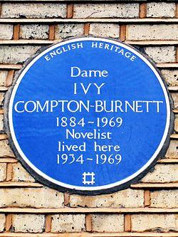 Dame ivy compton burnett 1884 1969 novelist lived here 1934 1969