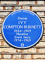 Dame IVY COMPTON-BURNETT 1884-1969 Novelist lived here 1934-1969.jpg