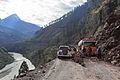 Danger from landslide next to Neelum River, Kashmir.JPG