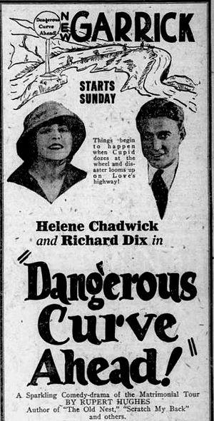 Dangerous Curve Ahead - Image: Dangerous Curve Ahead (1921) Ad 1
