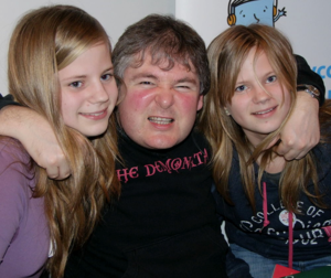 Darren Shan - Shan with fans at the Surrey Libraries' 2011 Children's Book Festival