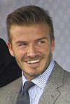 David Beckham at a visit of the United States Embassy in London in 2012