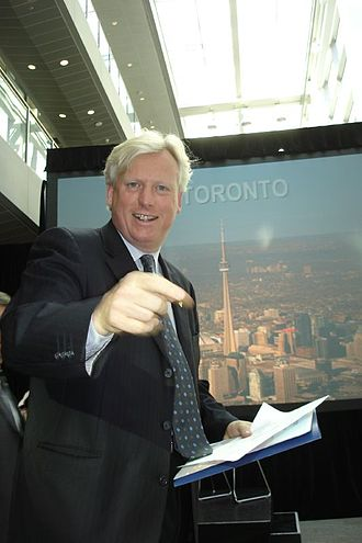 "David Miller (Canadian politician) - David Miller launching ""ICT Toronto"" in 2006"