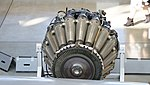 De Havilland Goblin 35 turbojet engine behind view at Hamamatsu Air Base Publication Center November 24, 2014.jpg