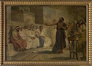 De heilige Paulus voor de Areopagus in Athene