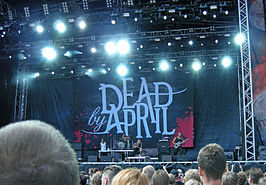 Swedish band Dead By April at Sonisphere Festival, Stockholm, Sweden 2011