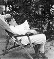 Deck chair, newspaper, man, relaxation Fortepan 3677.jpg