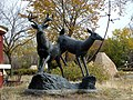 Deer Sculpture at the Forks in Winnipeg, Manitoba.JPG
