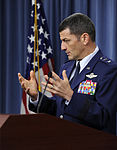 Defense.gov News Photo 110915-D-TX536-002 - Commander 9th Air and Space Expeditionary Task Force-Iraq Maj. Gen. Russ Handy U.S Air Force briefs the press in the Pentagon in Arlington Va..jpg