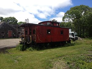 Brotherhood of Railroad Trainmen - An old caboose of the Delaware and Hudson Railway