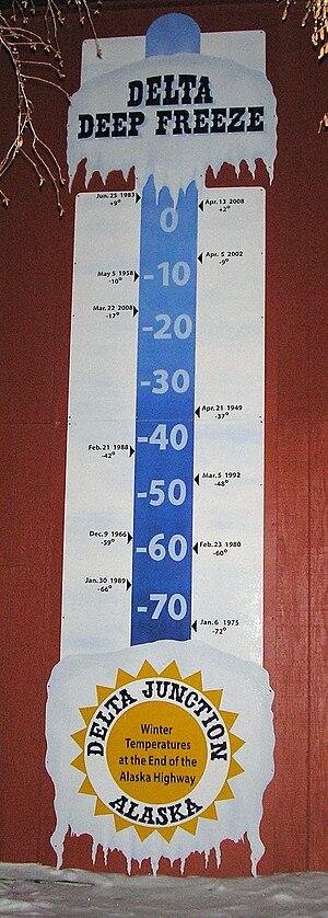 Delta Junction, Alaska - Image: Delta Junction thermometer