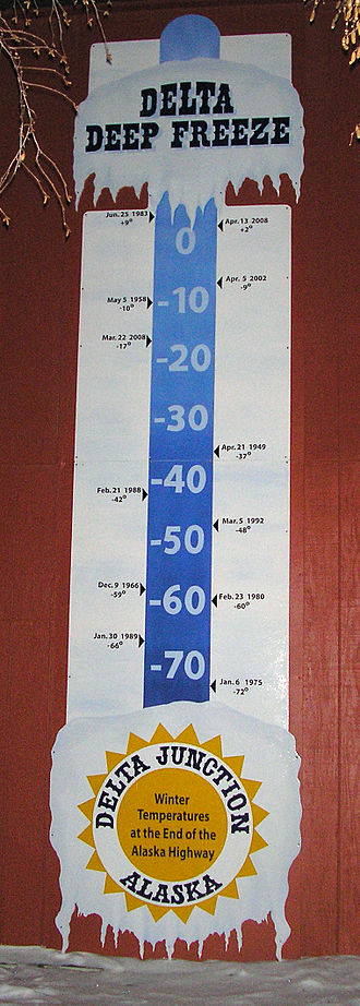 Delta Junction, Alaska - Image: Delta Junction thermometer