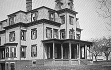 Photograph of the Delta Upsilon chapter house at Amherst College in 1890