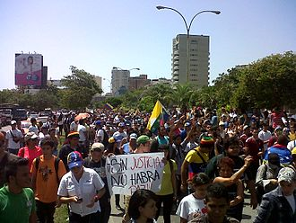 Timeline of the 2014 Venezuelan protests - Anti-government demonstration on Margarita Island.
