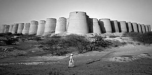 Derawar Fort - Image: Derawar bw 01