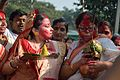 Devotees - Durga Idol Immersion Ceremony - Baja Kadamtala Ghat - Kolkata 2012-10-24 1408.JPG