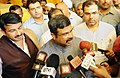 Dharmendra Pradhan briefing the media after launching the IGL Smart Card, prepaid CNG cards for both retail and fleet customers, in New Delhi.jpg