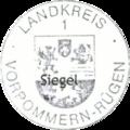 Dienstsiegel Landkreis Vorpommern-Rügen 1 Kreiswappen 2013.png
