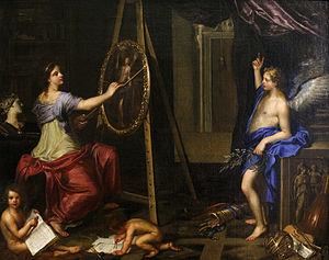 Charles Alphonse du Fresnoy - Charles Alphonse du Fresnoy, Allegory of Painting, Musée des Beaux-Arts, Dijon, 1650