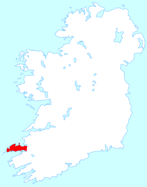 Dingle Peninsula - Location map of the Dingle Peninsula