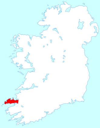 Dingle Peninsula - Location map of the Dingle Peninsula
