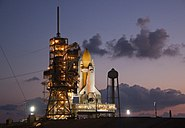 Discovery at Launch Pad (STS0133)