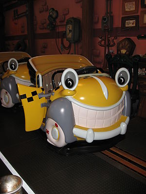 Roger Rabbit's Car Toon Spin - The loading area in Disneyland, California.