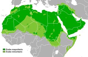 Arabic - Image: Dispersión lengua árabe