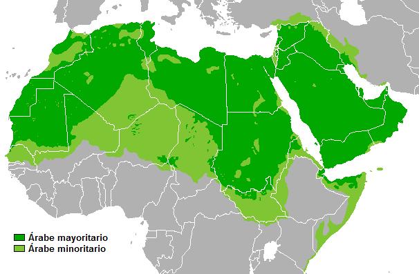 Dispersión lengua árabe