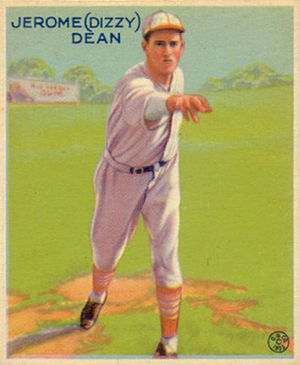 Dizzy Dean - Dizzy Dean 1933 Goudey baseball card.