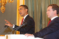 Dmitry Medvedev with Barack Obama 6 July 2009-10.jpg