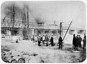 Cathedral Bridge - Cathedral Bridge during construction, 1859