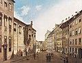 Domenico Quaglio (1787 - 1837), München - Die Residenzstraße gegen den Max-Joseph-Platz im Jahr 1826.jpg