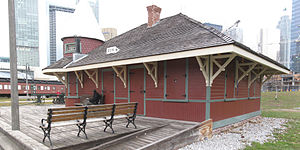 Roundhouse Park - Image: Don train station after being moved to the John Street Roundhouse Museum a