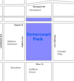 Location of Dovercourt Park