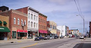 Bucyrus, Ohio - Downtown Bucyrus on South Sandusky Avenue